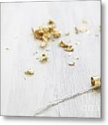 Gold Wedding Rings  Metal Print