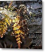 Golden Autumn Fern Metal Print