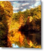 Golden Autumn Metal Print by Joann Vitali
