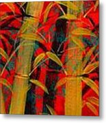 Golden Bamboo Metal Print