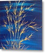 Golden Bamboo Metal Print by Pretchill Smith