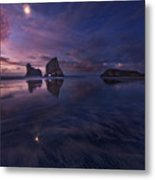Golden Bay When Night Falls Metal Print