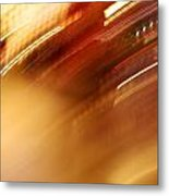 Golden Blur Metal Print