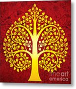 Golden Bodhi Tree No.1 Metal Print