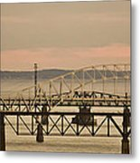 Golden Bridge Metal Print