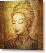 Golden Buddha Metal Print by Ananda Vdovic