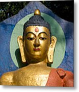 Golden Buddha Metal Print