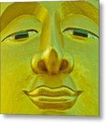 Golden Buddha Smile Metal Print by Allan Rufus
