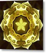 Golden Buddha Star Metal Print