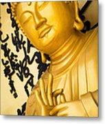 Golden Buddha Statue Metal Print