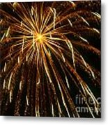 Golden Burst Metal Print