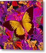 Golden Butterfly Painting Metal Print
