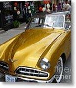 Golden Car Metal Print