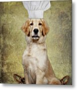 Golden Chef Metal Print