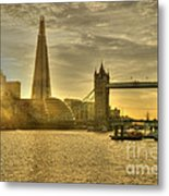 Golden City Metal Print