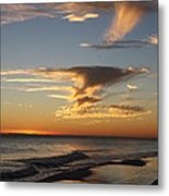 Golden Clouds And Blue Sky Metal Print