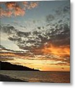 Golden Clouds At Grand Anse Metal Print
