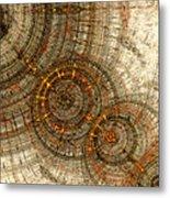 Golden Cogwheels Metal Print