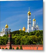 Golden Domes Of Moscow Kremlin - Featured 3 Metal Print