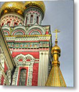 Golden Domes Of Russian Church Metal Print