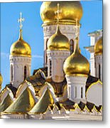 Golden Domes Of The Russian Church Metal Print