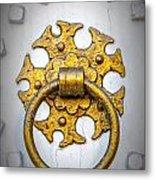 Golden Door Knocker Vignette Metal Print