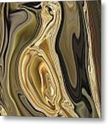 Golden Dove Metal Print