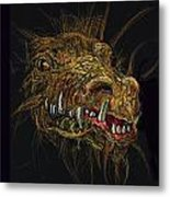 Golden Dragon Metal Print