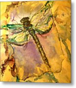 Golden Dragonfly Metal Print by M C Sturman