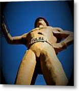 Golden Driller 6 Metal Print