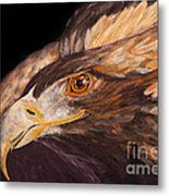 Golden Eagle Close Up Painting By Carolyn Bennett Metal Print