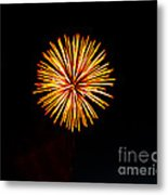 Golden Fireworks Flower Metal Print