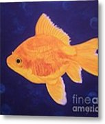Golden Fish Metal Print