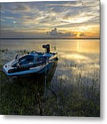Golden Fishing Hour Metal Print