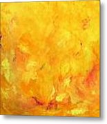 Golden Flames Metal Print