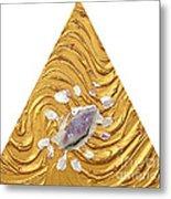 Golden Flow Creator Metal Print
