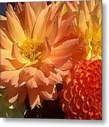 Golden Flowers Upclose  Metal Print