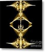Golden Fractal Metal Print