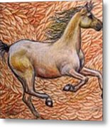 Golden Gallop Metal Print