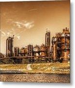 Golden Gas Works Metal Print