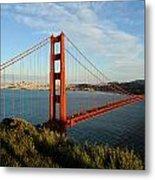 Golden Gate At Sunset Metal Print