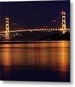 Golden Gate Bridge After Dark Metal Print