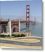 Golden Gate Bridge And Bike Path Metal Print