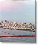 Golden Gate Bridge And San Francisco Skyline Metal Print