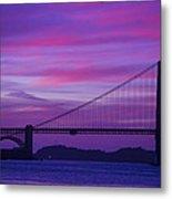 Golden Gate Bridge At Twilight Metal Print