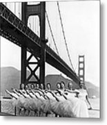 Golden Gate Bridge Ballet Metal Print