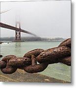 Golden Gate Bridge Chain Metal Print