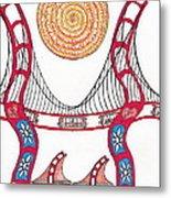 Golden Gate Bridge Dancing In The Wind Metal Print by Michael Friend