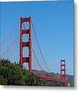 Golden Gate Bridge In Spring Metal Print