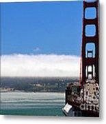 Golden Gate Bridge Looking South Metal Print